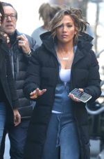 JENNIFER LOPEZ on the Set of Hustlers in New York 04/04/2019