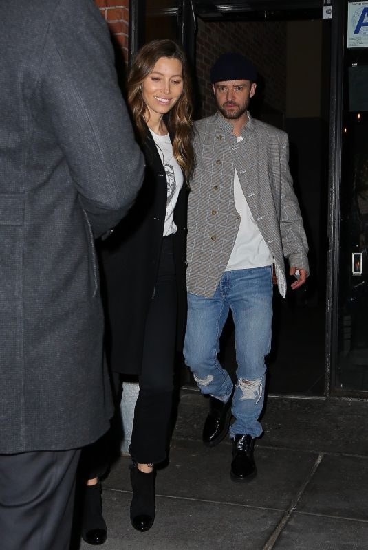 JESSICA BIEL and Justin Timberlake at Catch LA in New York 04/10/2019