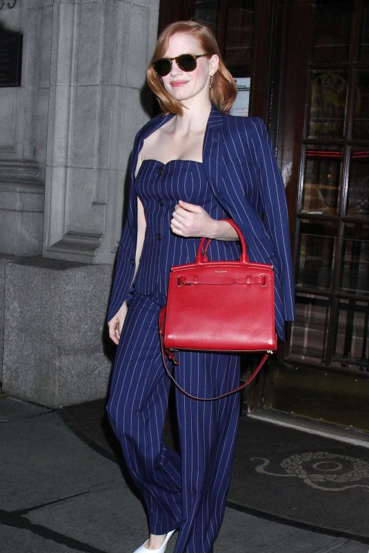 JESSICA CHASTAIN Night Out in New York 04/17/2019