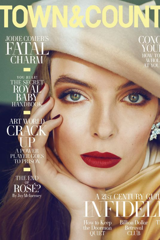 JODIE COMER on the Cover of Town & Country Magazine, May 2019