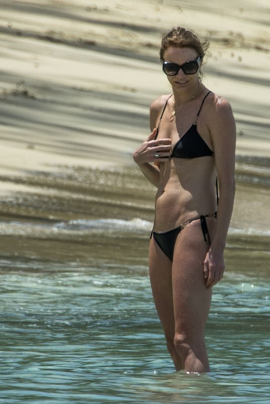 JODIE KIDD in Bikini at a Beach in Barbados 04/06/2019