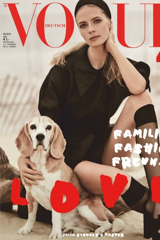 JULIA STEGNER in Vogue Magazine, Germany May 2019