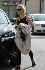 JULIANNE HOUGH at a Gym in Los Angeles 04/15/2019