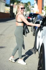 JULIANNE HOUGH Leaves a Gym in Studio City 04/10/2019