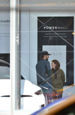 JULIANNE MOORE and Bart Freundlich Out Check New Tesla in New York 04/07/2019