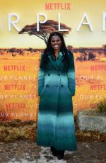 JUNE SARPONG at Our Planet Premiere in London 04/04/2019