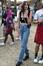 KAIA GERBER Out at Coachella Valley Music and Arts Festival in Indio 04/14/2019