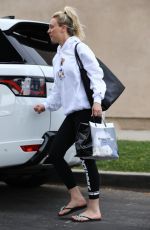 KALEY CUOCO Leaves a Nail Salon in Los Angeles 04/28/2019