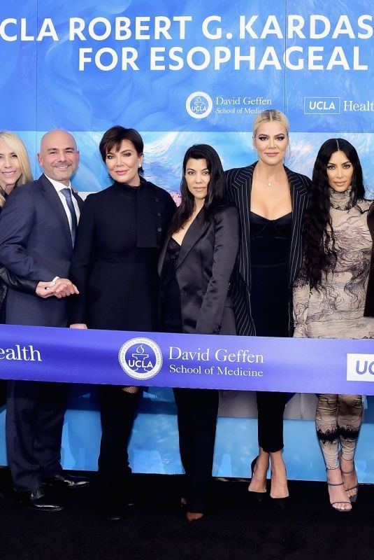 KARDASHIANS and JENNERS at Ucla Robert G. Kardashian Center for Esophageal Health Dedication Event 04/16/2019