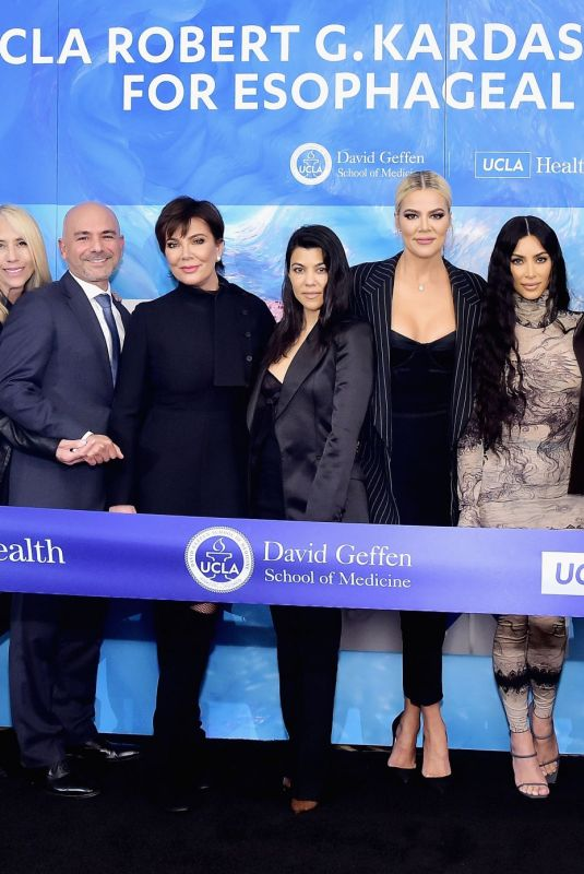 KARDASHIANS and JENNERS at Ucla Robert G. Kardashian Center for Esophageal Health Dedication Event 04/16/2019