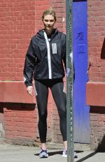 KARLIE KLOSS on the Set of a Adidas Photoshoot in New York 04/03/2019
