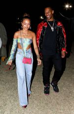KARRUECHE TRAN and Victor Cruz at Neon Carnival at Coachella in Palm Springs 04/13/2018