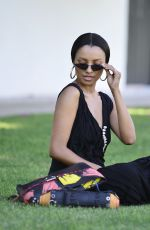 KAT GRAHAM Out at Coachella Valley Festival in Indio 04/21/2019