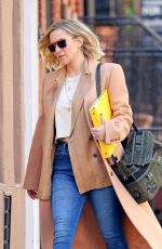 KATE HUDSON Out and About in New York 04/03/2019
