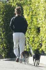 KATE MARA Out with Her Dogs in Los Angeles 04/07/2019