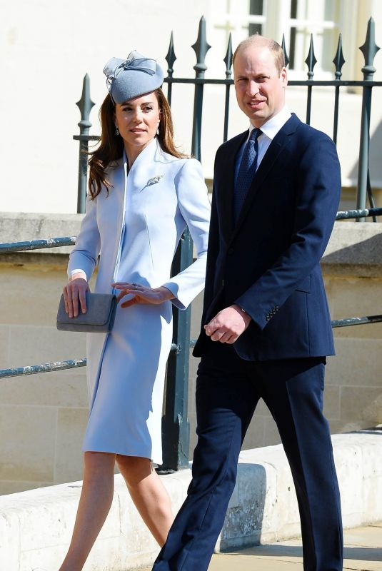 KATE MIDDLETON at Easter Sunday Church Service at St George
