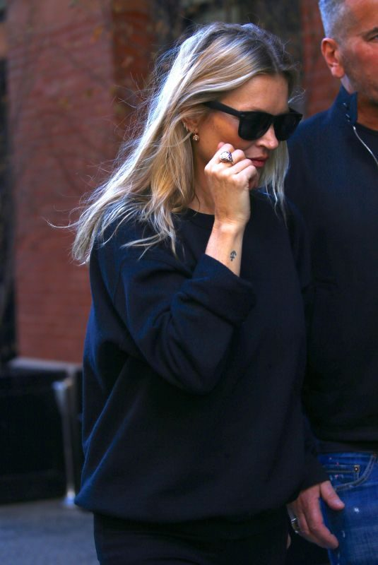 KATE MOSS Out in New York 04/06/2019
