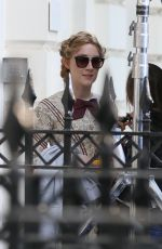 KATE WINSLET and SAOIRSE RONAN on the Set of Ammonite in London 04/17/2019