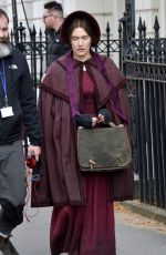 KATE WINSLET on the Set of Ammonite in London 04/17/2019