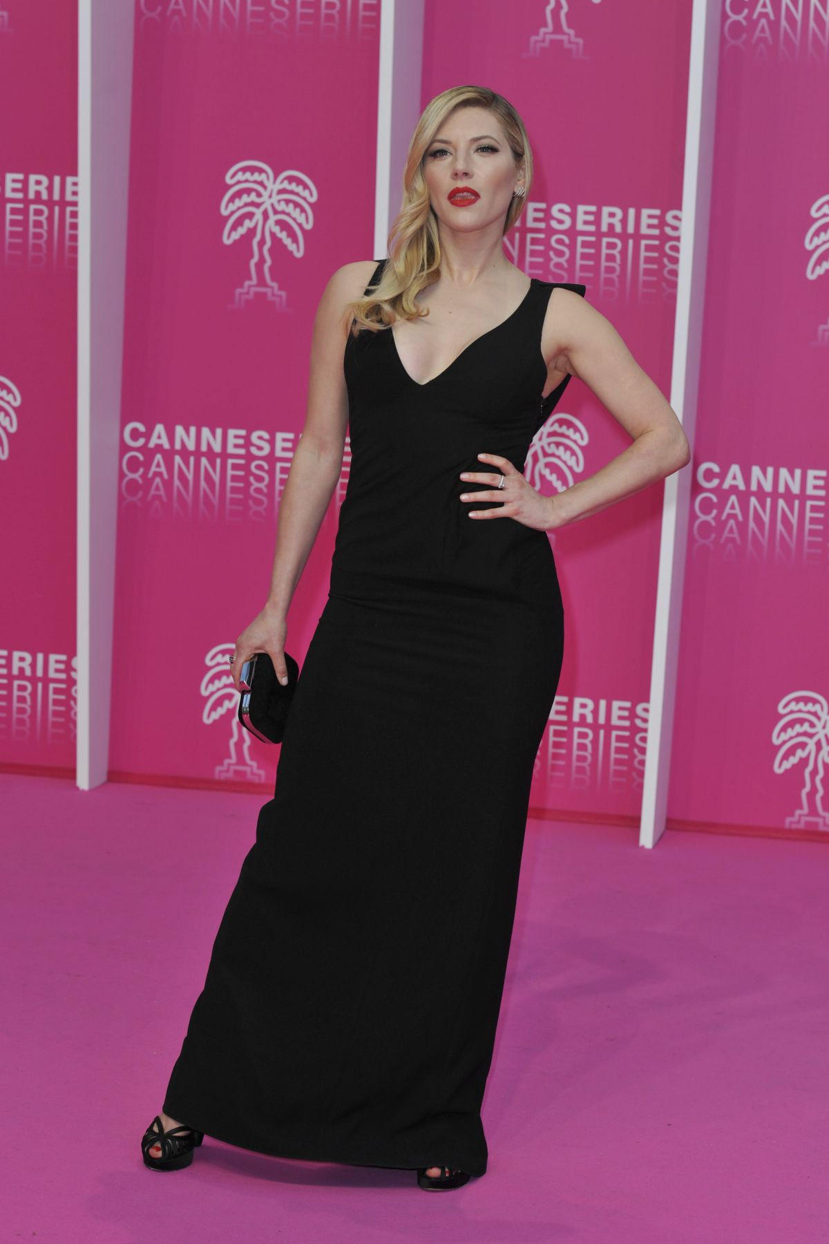 Katheryn Winnick At The Rook Premiere At Cannes Series