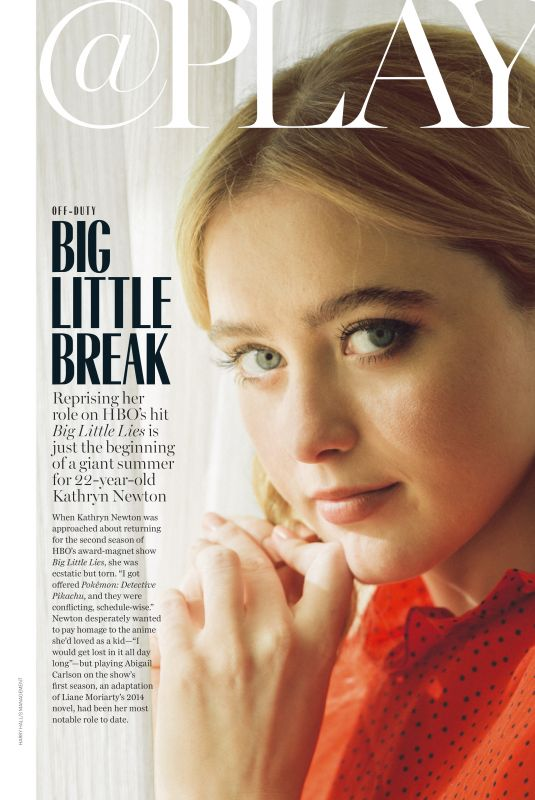 KATHRYN NEWTON in Marie Claire Magazine, May 2019