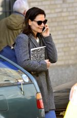 KATIE HOLMES Out and About in New York 04/16/2019