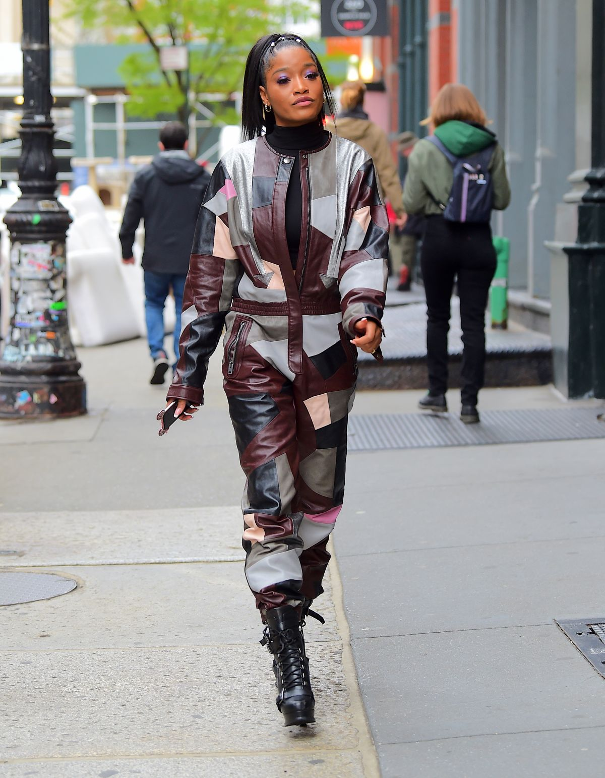 KEKE PALMER Out and About in New York 04/18/2019 - HawtCelebs