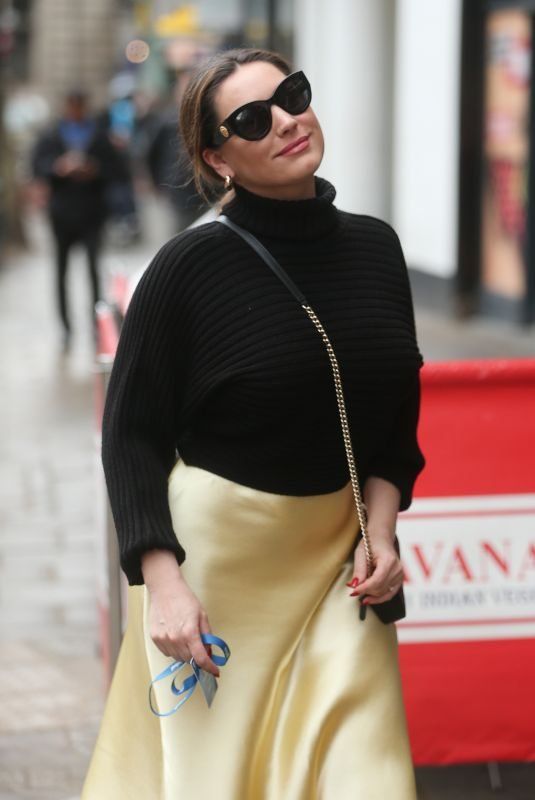 KELLY BROOK at Heart Radio in London 04/04/2019