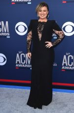 KELLY CLARKSON at 2019 Academy of Country Music Awards in Las Vegas 04/07/2019