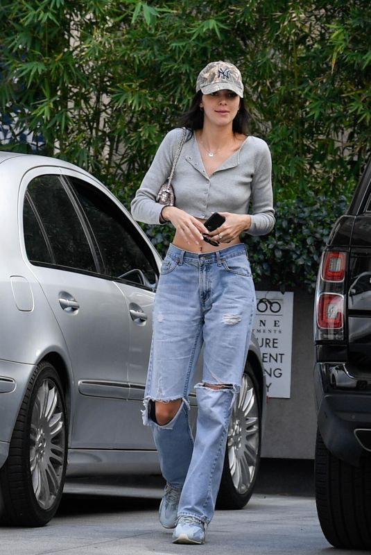 KENDALL JENNER in Ripped Denim Out Shopping in Los Angeles 04/01/2019