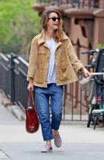 KERI RUSSELL Out in New York 04/22/2019