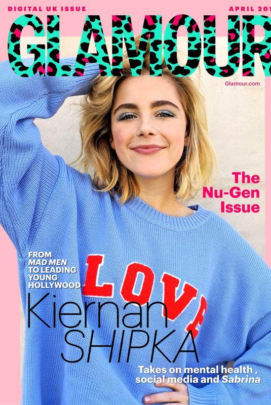 KIERNAN SHIPKA in Glamour Magazine, UK April 2019