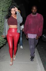KIM KARDASHIAN and Kanye West Leaves Travis Scott