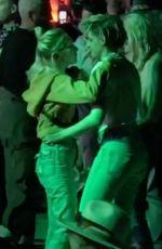 KRISTEN STEWAR and SARA DINKIN Kisses at Coachella in Indio 04/12/2019