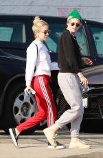 KRISTEN STEWART and SARA DINKIN Arrives at a Nail Salon in Los Angeles 04/20/2019