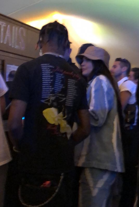 KYLIE JENNER and Travis Scott - Gets Some Drinks at Coachelle in Indio 04/13/2019