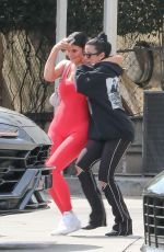 KYLIE JENNER Leaves Fresh Corn Grill in West Hollywood 04/03/2019