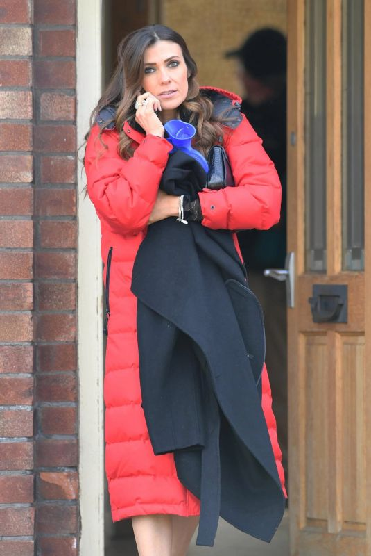 KYM MARSH on the Set of Coronation Street in Manchester 04/12/2019