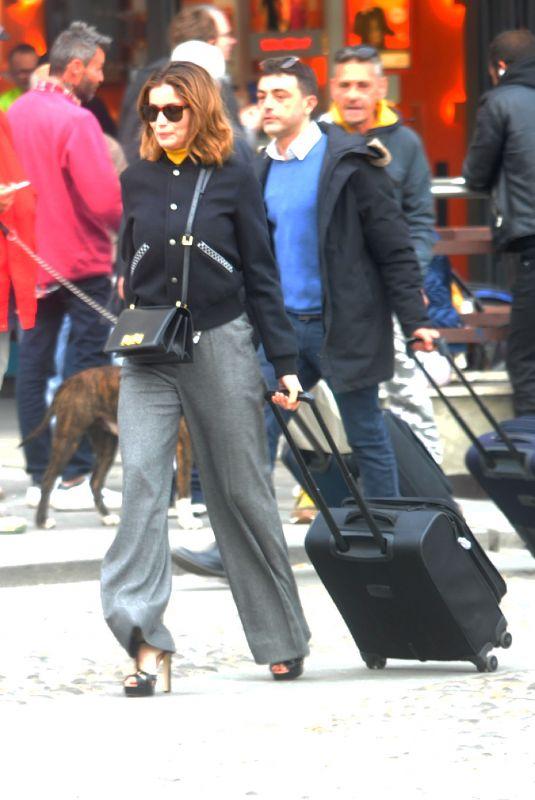 LAETITIA CASTA Out in Milan 04/08/2019