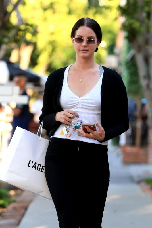 LANA DEL REY Out Shopping in West Hollywood 04/17/2019