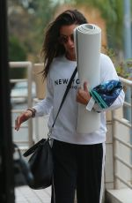 LEA MICHELE Arrives at Yoga Class in Santa Monica 04/04/2019