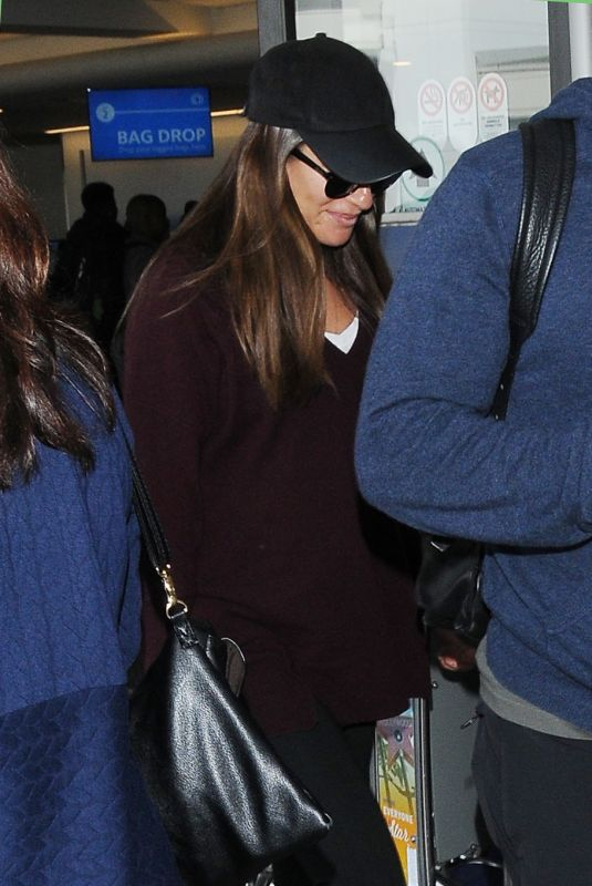 LEA MICHELE at LAX Airport in Los Angeles 04/14/2019