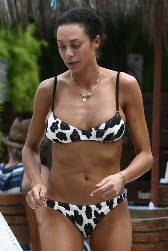 LILLY BECKER in Bikini on the Beach in Miami 04/10/2019