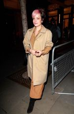 LILY ALLEN at Pat McGrath: A Technicolour Odyssey Launch Party in London 04/04/2019