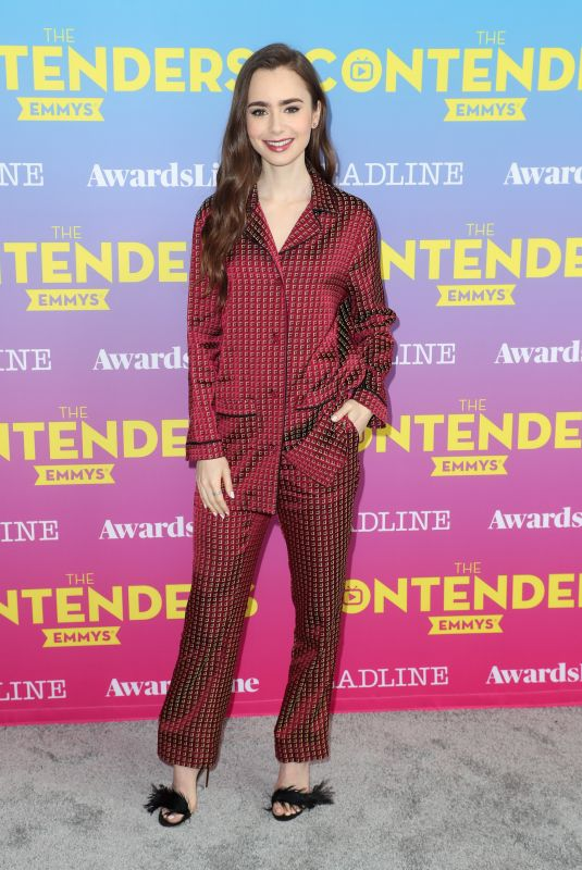LILY COLLINS at Deadline Contenders Emmy Event in Los Angeles 04/07/2019