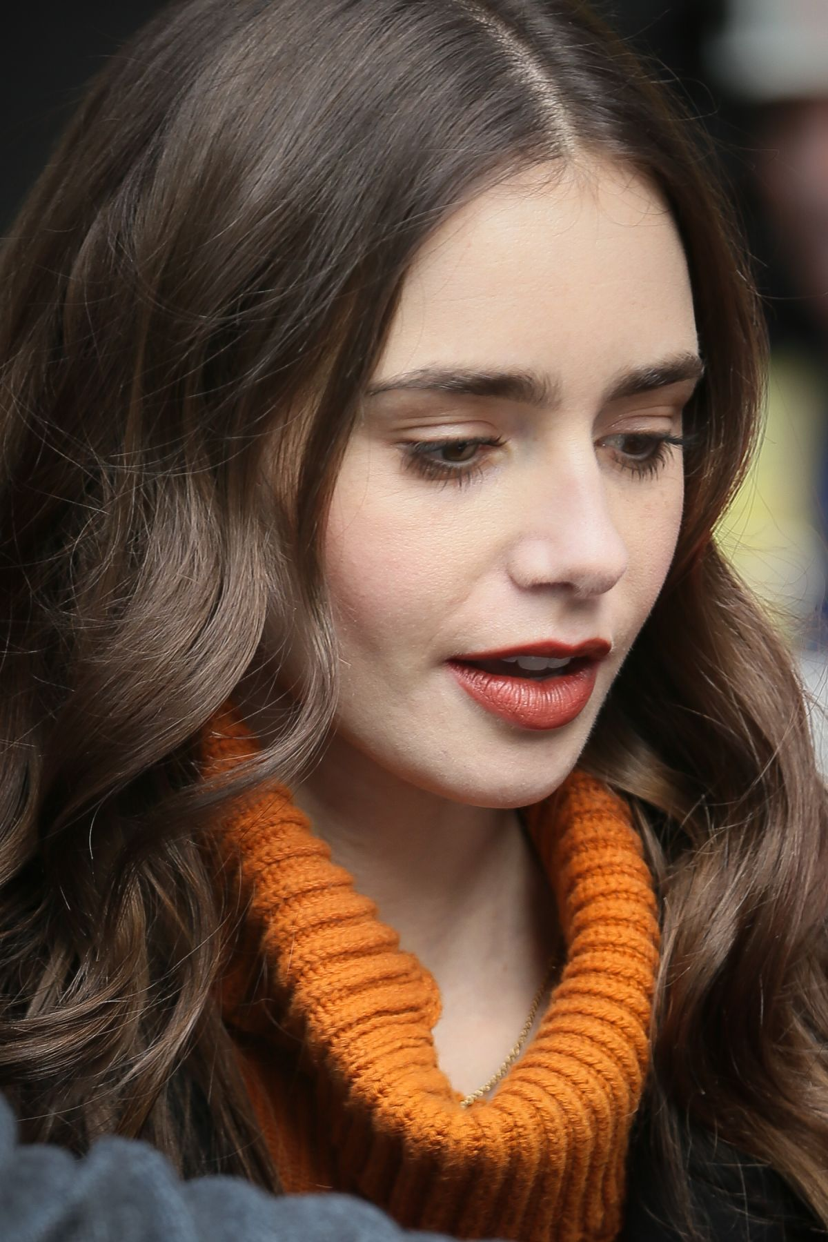 LILY COLLINS at Kiss R...