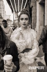 LILY COLLINS in Paper Magazine, April 2019