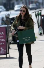 LILY COLLINS Out Shopping in Hollywood 04/14/2019