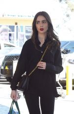 LILY COLLINS Shopping at Whole Foods in West Hollywood 04/18/2019