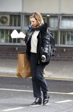 LILY JAMES Arrives at a Studio in West London 04/04/2019